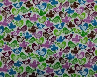 Chicadee Bird Quilting Fabric