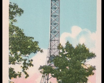 The Cross on Mount Royal (100 feet high) / Montreal, Quebec, Canada / Postcard