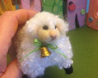 Easter, Needle felted Lamb, Easter Lamb, Miniature Lamb, Fiber Artist Collectible,