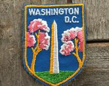 Washington Monument Washington DC Vintage Souvenir Travel Patch from Voyager - LAST ONE!
