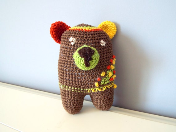Amigurumi Baby Shower Bears : Crochet small teddy bear Amigurumi Teddy Home decor Kids Baby