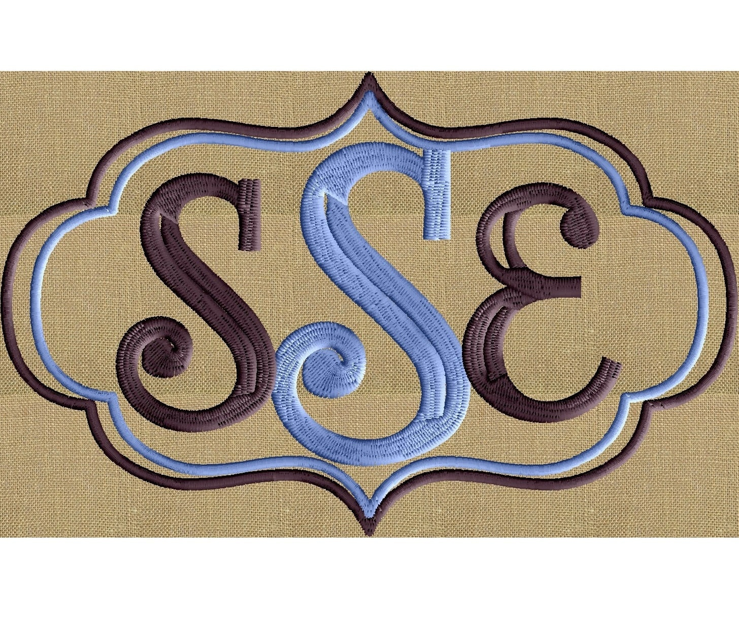 Font frame monogram embroidery design not included