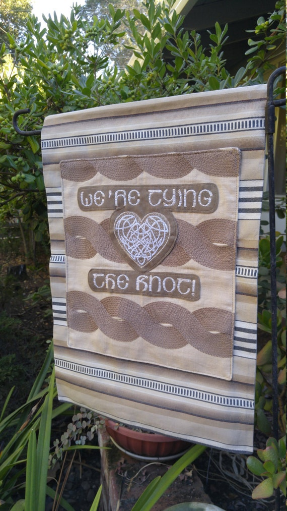 Wedding Welcome Banner Tying The Knot Ceremony Rustic
