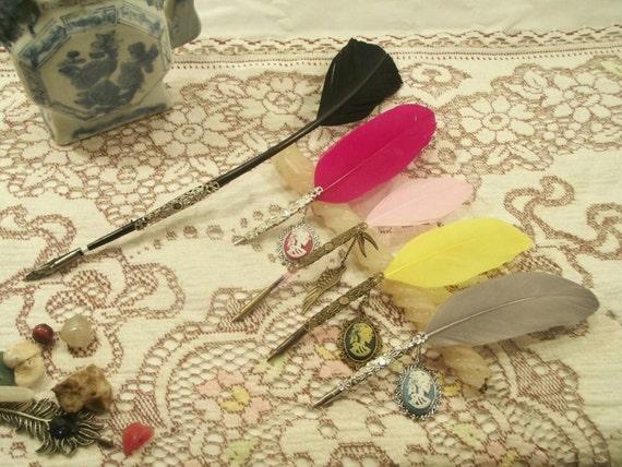 Steampunk Wedding Gifts: Steampunk Quill Biro Pen Gift Gothic Pen Gift Wedding Quill