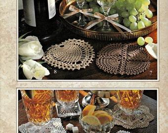 "Leisure Arts ""Classic Coasters to Crochet"" Crochet Patterns Book, Crochet Stitches, Coasters, Crochet Designs, Crocheting Patterns"