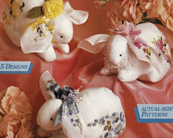 McCalls Creates Hankie & Heart Treasures, Embroidery Patterns, DIY Patterns, Embroidered Handkerchief, Embellishments