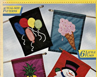 McCalls Creates Fun Flags, Embroidery Patterns, Flag Patterns, Embroidered Handkerchief, Embellishments, Applique Patterns