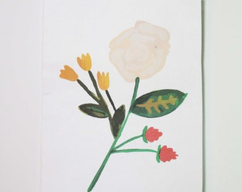 Hand-Painted Floral Stationery