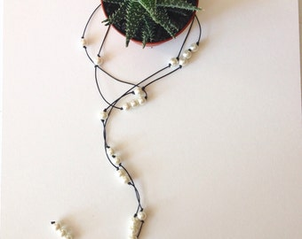 Pearl Wrap Around Necklace