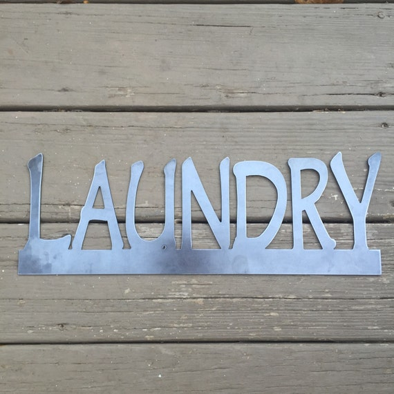 Custom metal sign Laundry Room Metal Wall Decor Metal Custom