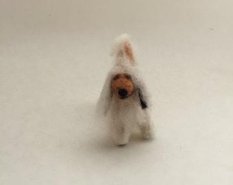 Needle-Felted Afghan Hound Dog Sculpture