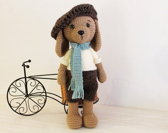 Crochet PATTERN - Dog - Puppy - Amigurumi dog pattern - Crochet pattern-Knitted Stuffed animals- doll-toy-baby shower