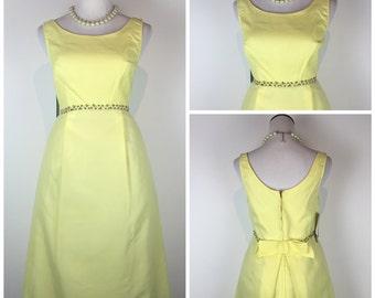 Vintage 60s dress / 1960s dress / 60s dress / mini dress / mod dress / floral dress / party dress / prom dress / C702