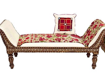 Anglo-Indian Inlaid Chaise Lounge