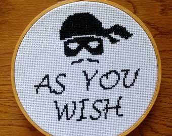 Princess Bride Cross Stitch Pattern: Needlepoint Embroidery Counted Easy Buy Two Get One FREE!