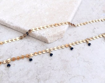 Choker necklace, Gold choker, Delicate necklace, Adjustable choker, Trendy necklace, Dainty chain