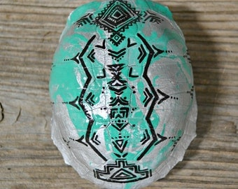 Hand painted turtle shell