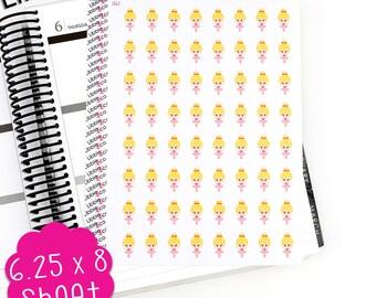 LS62 Blonde Ballerina Stickers!!  Perfect for Erin Condren, Plum Paper or Kikki k Planners!!!