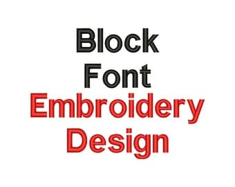 BLOCK FONT Embroidery Design Block Embroidery Font Machine Embroidery Fonts Embroidery Block Font Design Embroidery File Download
