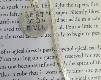 Personalised Bookmark, Best Book Ever, Bookmark, Handmade Bookmark, Handstamped Bookmark, Personalised Birthday Gift, Gifts for Books