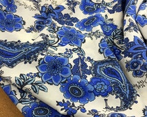 Width 55.11 inches Flower Rayon Staple Fabric,floral Fabric 0.5 meter(142-16)