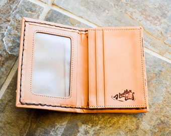 """The """"Trevor"""" Tumbled Leather Card Wallet"""