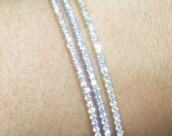1.17ct F/G VS2/SI1 Natural Diamonds 14k Gold Bangel