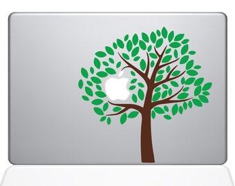Green Tree With Apple Inside macbook laptop decal sticker