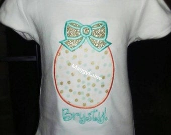 Easter Egg with bow tee