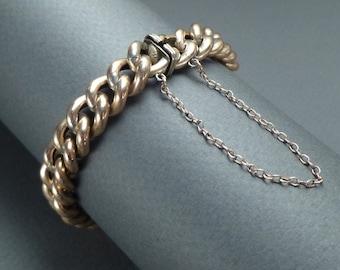 Silver gilt bracelet