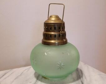 Glass and Brass Starburst Hanging Lantern