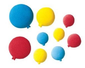 12 Pack Balloon Edible Molded Sugar Cake and Cupcake Decorations