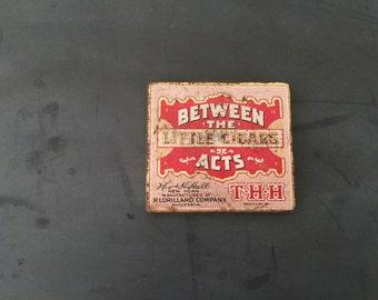 Vintage Between the Acts Little Cigars Tin Box - Lorillard Co. - Metal Tin - Advertising Tin - Tobacciana