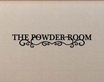 The Powder Room Bathroom Wall Decal Sticker