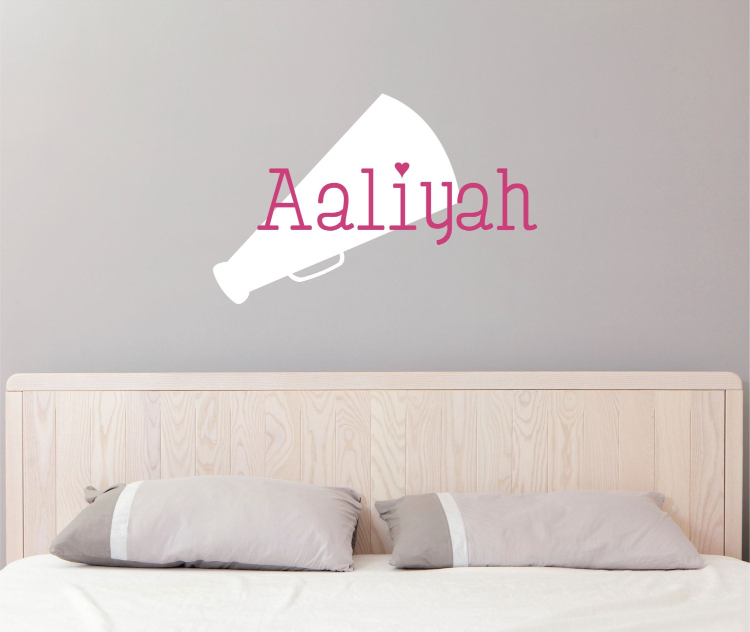 personalized name cheerleader wall decal custom name