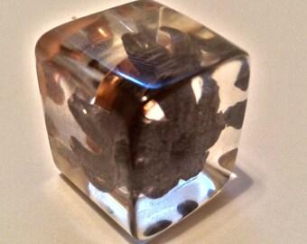 Stunning .45ACP Speer Gold Dot 200 Grain +P - Fully Expanded Bullet - Encased In Resin - Great Desktop Pendant/Paperweight