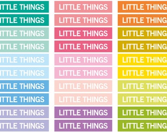 Little things Heading stickers, planner header sticker, planner stickers, agenda notebook journal sticker, eclp filofax happy planner kikkik