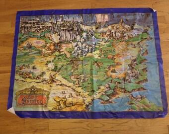 Teddy Ruxpin Land of Grundo map play mat 1986