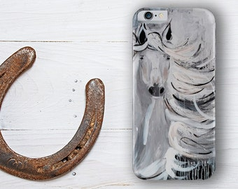 Case for cell phone, reproduction of an original painting by Cynthia Paquette, 'in the wind'