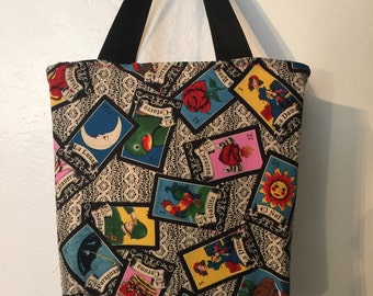 Reusable, washable cotton shopping tote, grocery bag