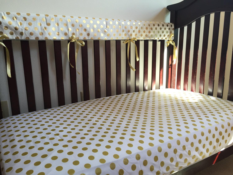 White gold polka dot baby bedding nursery bedding toddler for White and gold nursery