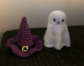 halloween ghost and halloween witch hat crochet pattern bundle pdf halloween amigurumi halloween decorations halloween crochet