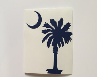 South Carolina PALMETTO TREE Decal for your car/laptop/phone case/water bottle/etc