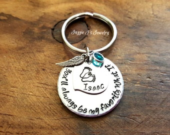 You'll Always Be My Favorite What If Memorial Keychain, Mommy or Daddy Of An Angel, Remembrance Keychain, Infant Loss Keychain, Miscarriage