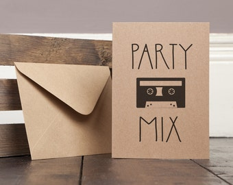 Party Mix Funny Greetings Card Recycled