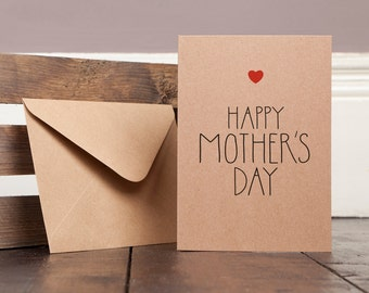Mother's Day Card Mum's typography modern Greetings card