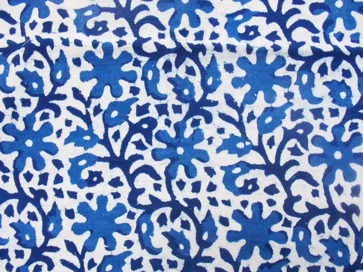 Indigo fabric cotton fabric printed cotton hand block print for Printed cotton fabric