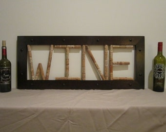 Wine Cork Wall Art - Maple