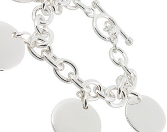 Customize chain bracelet silver