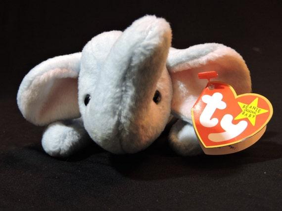1995 Retired Peanut The Elephant Original Ty Beanie Baby Born